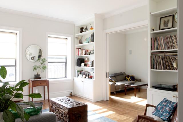 Brooklyn Prewar Apartment - Transitional - Living Room - New York ...