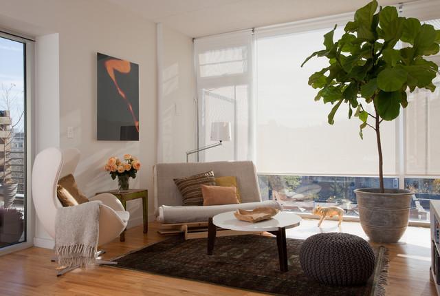 Brooklyn Residence modern-living-room