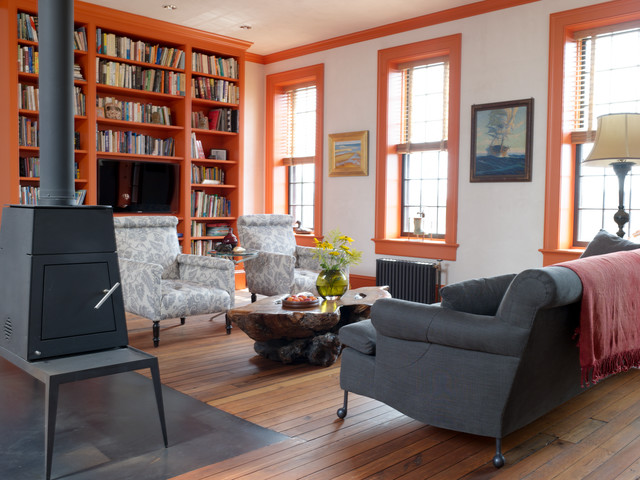 Brooklyn Townhouse transitional-living-room
