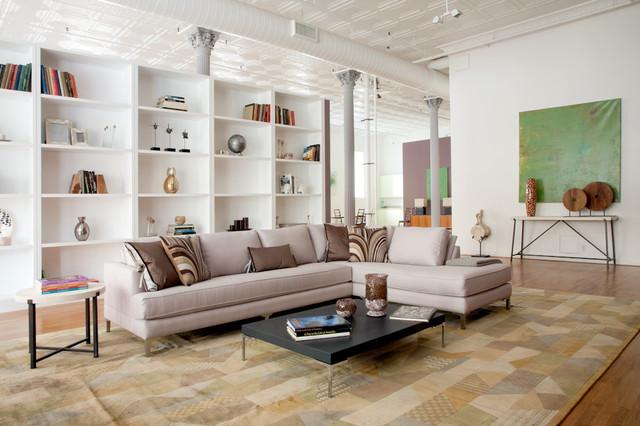 Broome St Loft Soho New York contemporary-living-room