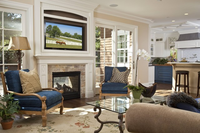Traditional Living Room Idea In San Francisco With Beige Walls, A Standard  Fireplace And A Part 72