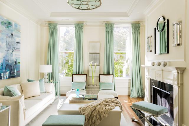 Merveilleux Brownstone Makeover   Transitional   Living Room   Boston ...