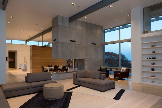 Modern Living Room with Fireplace contemporary-living-room