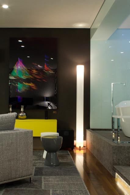 Bruno Senna 's loft modern-living-room