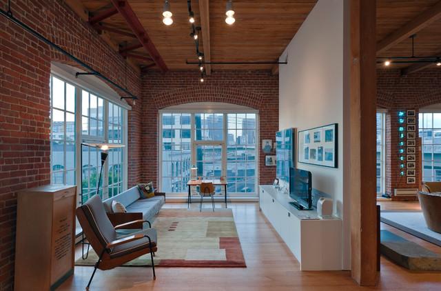 Bryant Street Loft Modern Living Room San Francisco
