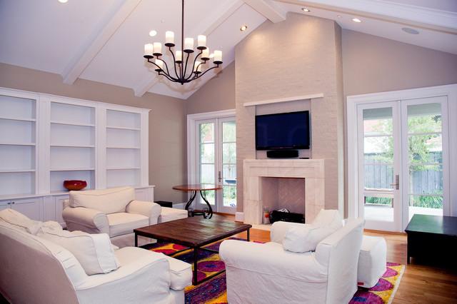 Bryn Mawr – Custom Home University Park traditional-living-room