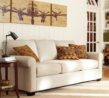 Buchanan Sofa | Pottery Barn Traditional Living Room
