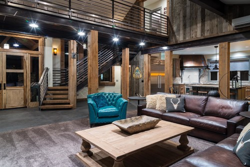 Rustic Living Room By Bend Home Builders Pacific