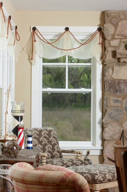 Buckeye lake traditional living room other by fine for Window treatment manufacturers