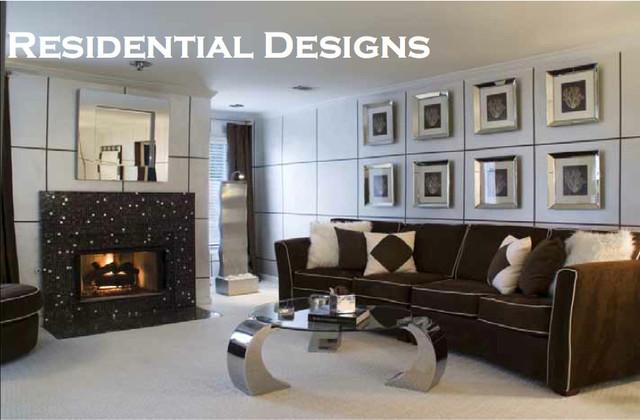 Buckhead Atlanta Condo contemporary-living-room