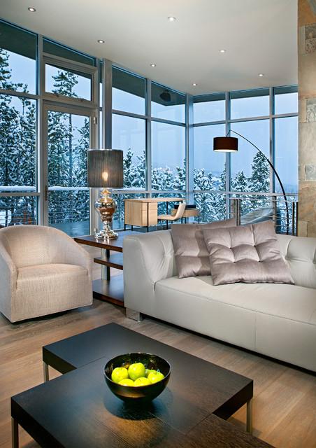 Peak 8 Penthouse Living Room Contemporary Living Room Denver By New Mood Design Llc