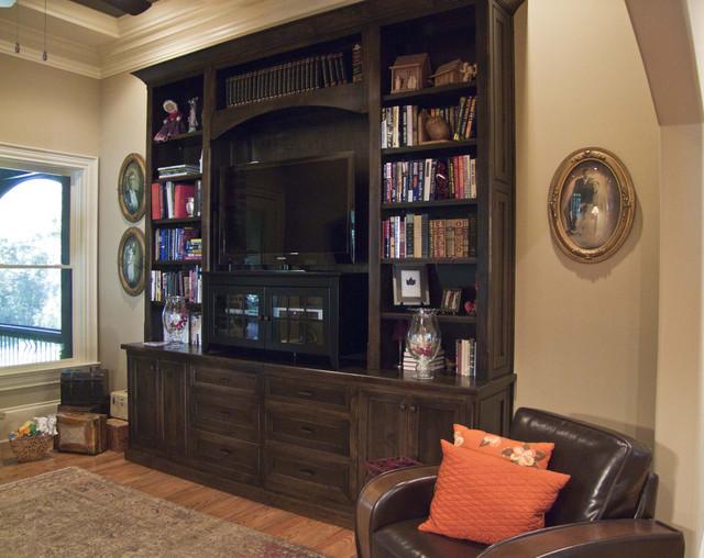 Buckhead Custom Home traditional-living-room