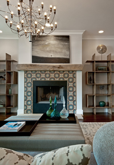 Bucktown Renovation contemporary-living-room