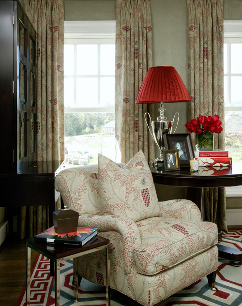 What Is The Name Of The Clarence House Fabric Used On The Chair?