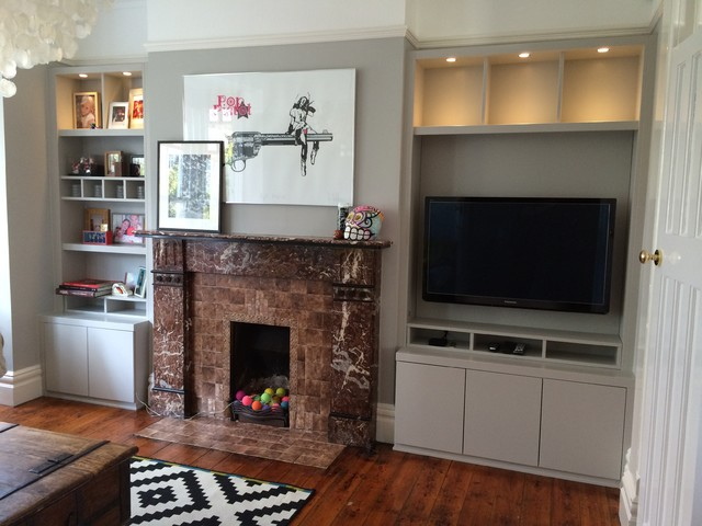 Built In Alcoves, Brentwood - Eclectic - Living Room - other metro - by Carpenter & Carpenter Ltd