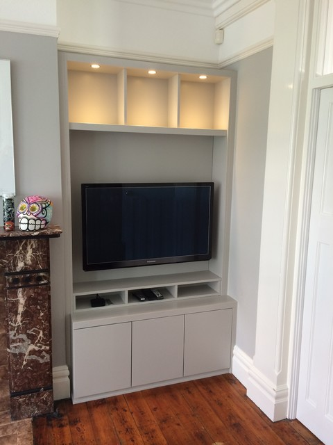 Built In Alcoves In Leigh On Sea Contemporary Living Room