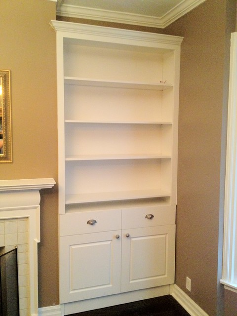 Built in cabinets traditional living room toronto for Living room cabinets
