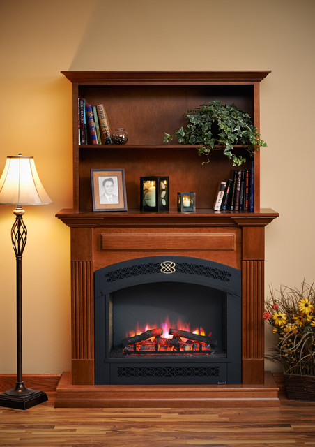 Built In Electric Fireplace Traditional Living Room
