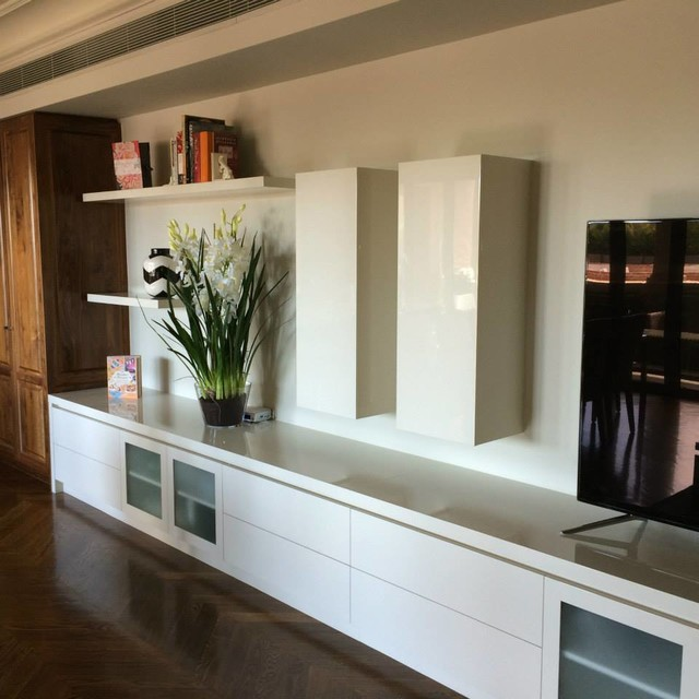Built In Entertainment Unit and Shelving modern-living-room