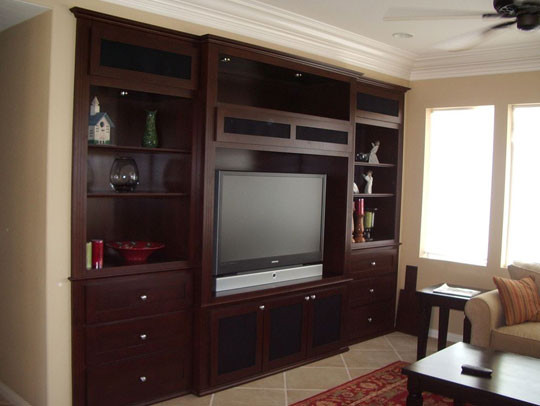 Built In Wall Unit Traditional Living Room