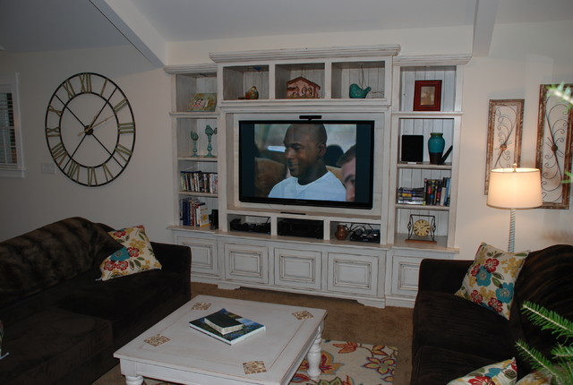 Built In Wall Units For Living Rooms built in wall unit - traditional - living room - detroit -m.j.