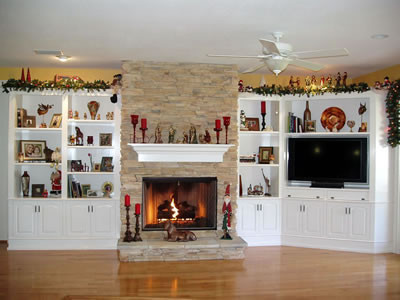 Built In Wall Unit Traditional Living Room Tampa
