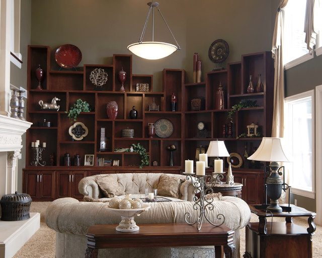 Built in Wall Unit Traditional Living Room Kansas