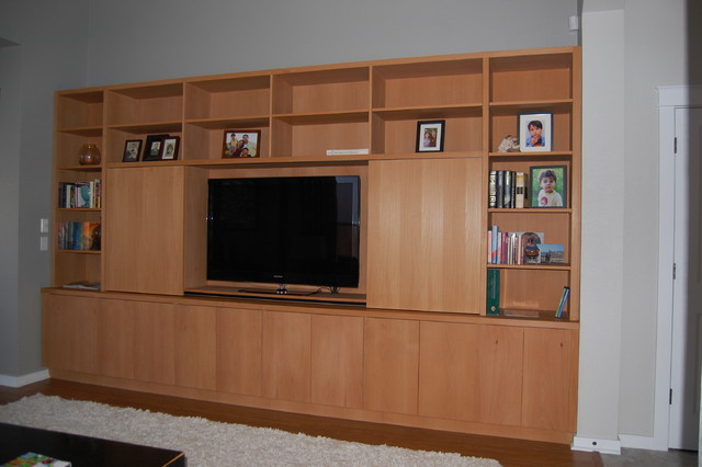 Built In Wall Units - Modern - Living Room - Austin - by Distinctive Wood Crafts