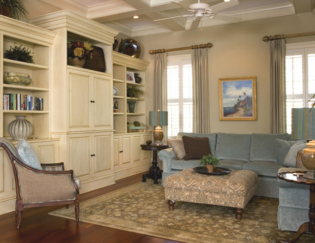 Built-ins anchor Great Room - Traditional - Living Room ...