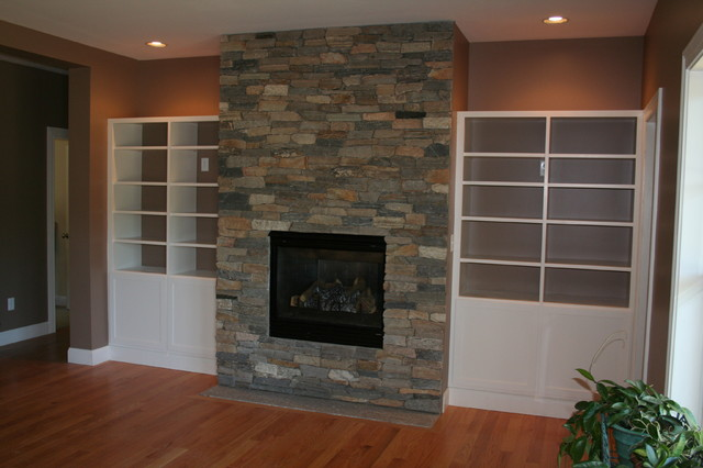Built Ins And Custom Cabinets Traditional Living Room Portland Maine By Barnard