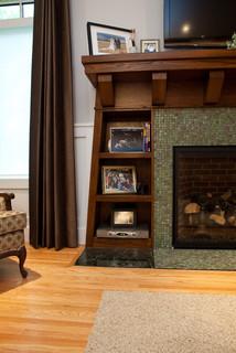 Built-ins around Fireplace - Craftsman - Living Room ...