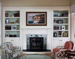 Built Ins beach-style-living-room