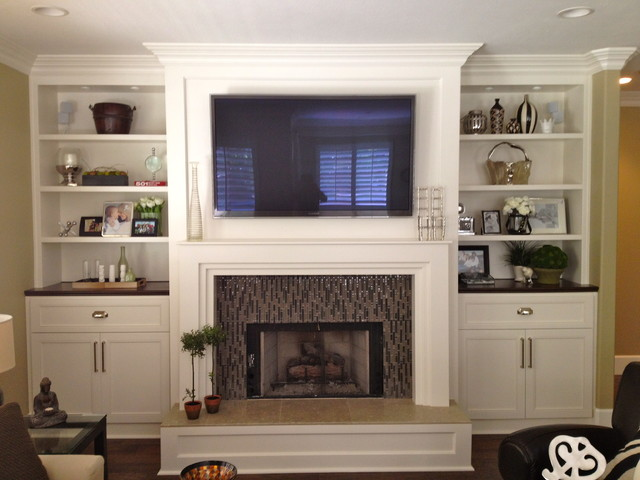 Built ins eclectic living room san diego by savvy for Living room built in cabinet designs