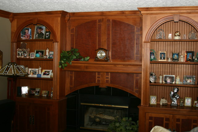 built ins traditional-living-room