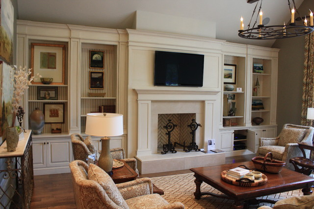 built ins traditional living room nashville by