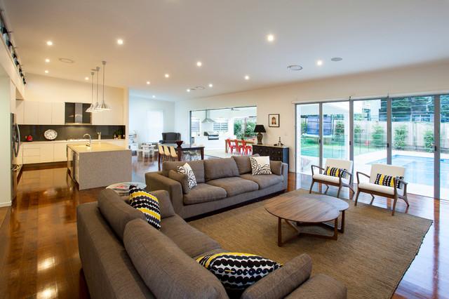 Bulimba contemporary living room brisbane by for Interior designers brisbane