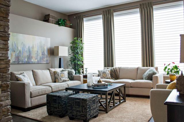 Bungalow Contemporary Living Room Edmonton By Amr Interior Design Drafting Ltd