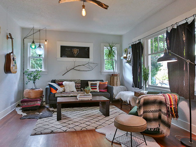Bungalow On Buffalo Eclectic Living Room Portland