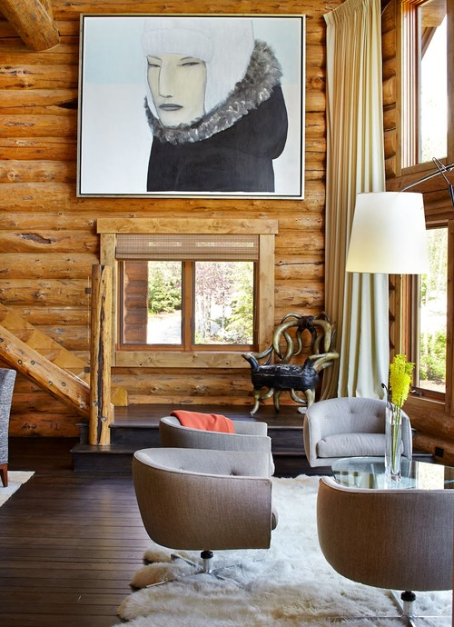 Not Only Will Acrylic Wall Art Add Color To Natural Log Cabin Walls, But  From Across The Room It Will Look As If A Beautiful Scenic View Is Within  Reach, ...