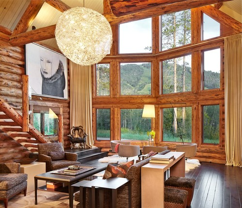 Room At A Glance Location: Steamboat Springs, Colorado Team: Interior Design:  LKID; Architecture: Katherine Keifer, West Elevation Architects