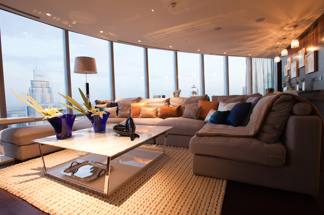 burj khalifa dubai contemporary living room other