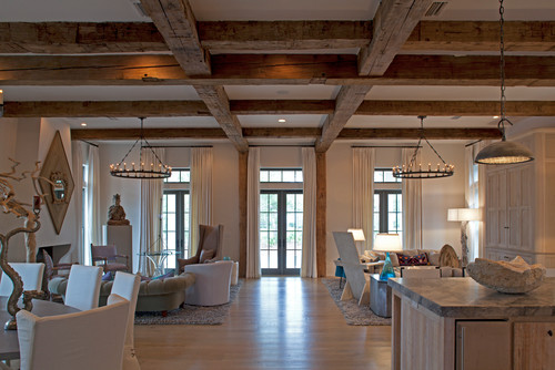 rugged ceiling beams