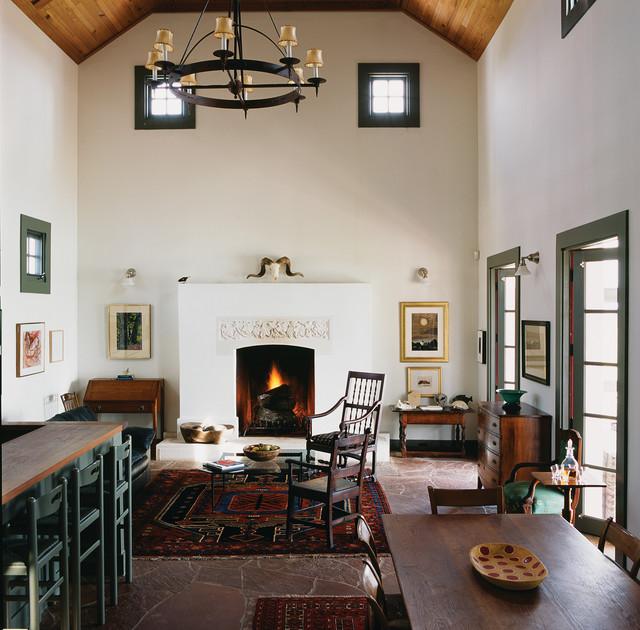 Houzz Farmhouse Living Room: Butcher Ranch