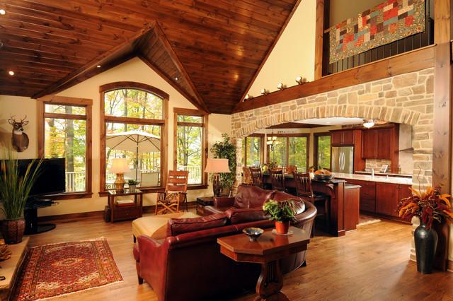 Butt Residence rustic-living-room