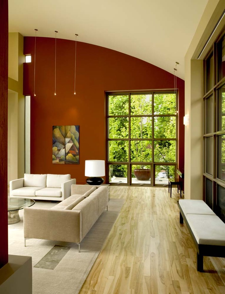 Inspiration for a huge contemporary living room remodel in San Francisco