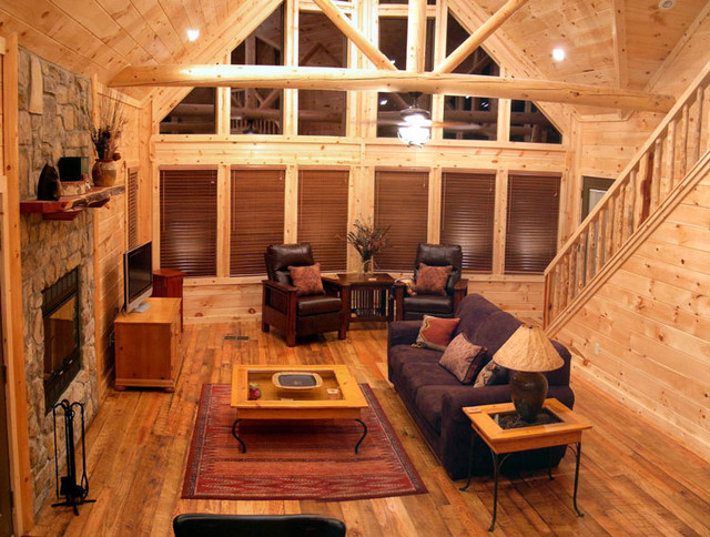 Cabin Living Room traditional-living-room
