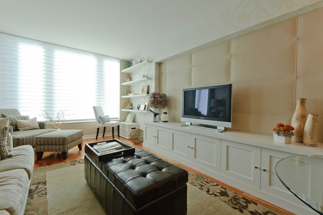 Cabinetry in Small Spaces modern-living-room