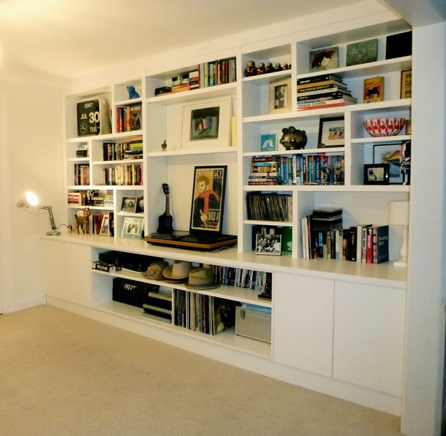 Cabinets & Shelving contemporary-living-room