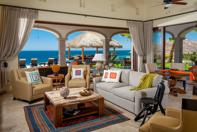 Cabo Style Tropical Living Room