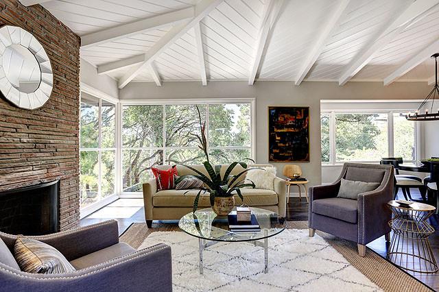 cal modern ranch living room  midcentury  living room
